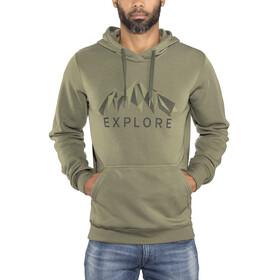 Bergans M's Explore Hoodie Seaweed Melange/Khaki Green/Solid Charcoal